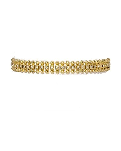 Chooseberry Gold Plated Non-Metal Crystal CZ Choker Necklace Modern for Girls & Women (B075RG9HKG) Amazon Price History, Amazon Price Tracker