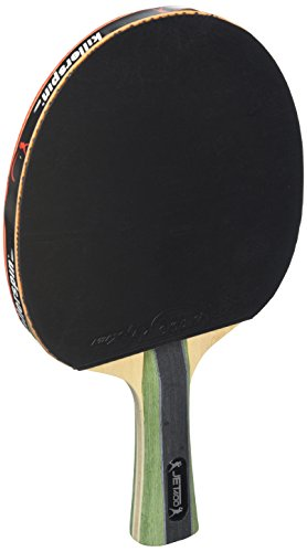 Killerspin JET400 Smash N1 Ping Pong Racket - Intermediate Table Tennis Racket| 5 Layer Wood Blade, Nitrx-4Z Rubbers, Flare Handle| Competition Ping Pong Racket| Memory Book Gift Box Storage Case