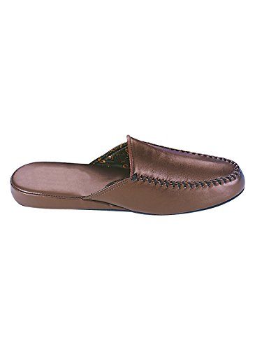 Dr Scholls Mens Slippers Open Back, Brown, Size 9-1/2 (Medium)