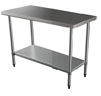 Quattro Value Line 600mm Wide Stainless Steel Catering Centre Bench
