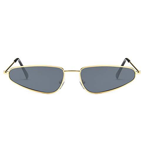 - Gnzoe Small Metallic Sunglasses for Women Personalized Triangle Gold Grey