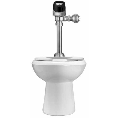 Sloan WETS-2023.1201 1.6 GPF One Piece Elongated ADA Toilet with Solis Flushomet, White