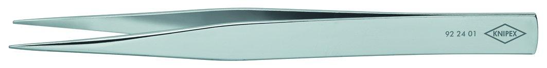 Knipex 92 24 01 Prä zisions-Pinzette Spitze Form 120 mm, Metallisch Knipex-Werk - C. Gustav Putsch KG