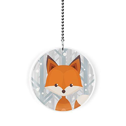 Gotham Decor Winter Woodland Fox Fan/Light Pull