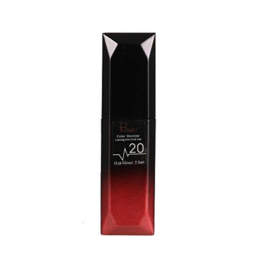 Chiak New 21 Colors Waterproof Matte Non Stick Cup Not Fade Lip Gloss Matte Lipstick Lipstick