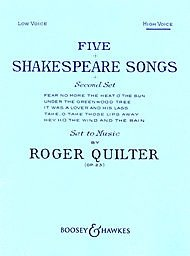 Five Shakespeare Songs, Op. 23 High Voice Boosey & Hawkes
