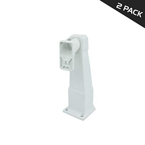 ARES Universal mounting CCTV Hidden Junction Box Bracket (Stand, 2 Pack, W/Out POE Adapter) - Box Junction Adapter