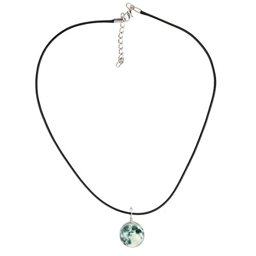 Price comparison product image Botrong® Retro Double Sided Glass Ball Moonlit Moonshine Necklace (A)