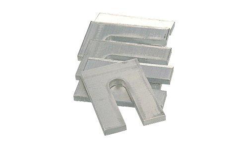 CRL 1/8'' x 3'' Aluminum Horseshoe Shims - 100 Pack by CRL