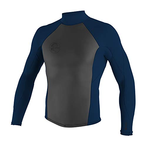 O'Neill Wetsuits Men's Original 2/1mm Back Zip Jacket, Abyss, X-Large