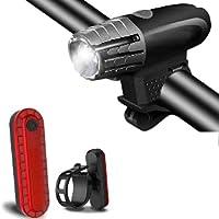 Abeho Led-fietslamp, led-fietsverlichting, oplaadbaar, USB met 400 lumen & waterdicht IP65, intelligente…