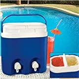Twin Beverage Cooler With Dispenser
