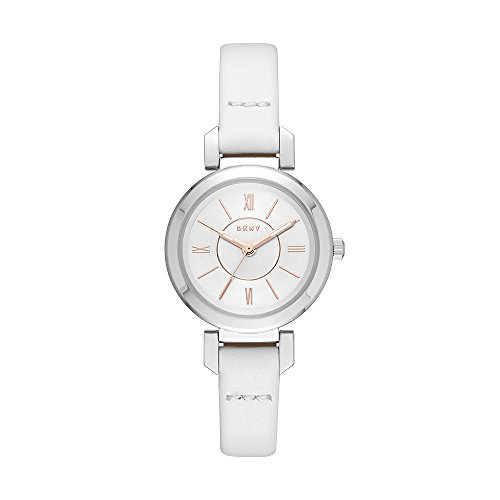 DKNY Women's 'Ellington' Quartz and Stainless-Steel-Plated Casual Watch, Color:White (Model: NY2594)