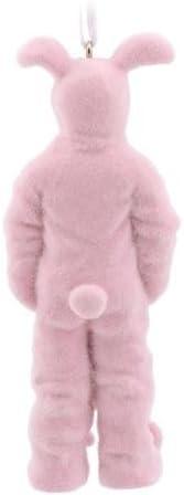 Hallmark A Christmas Story Ralphie in Bunny Suit Christmas Ornament Ralphies Pink Nightmare by Hallmark