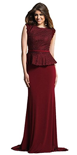 Dave and Johnny Refined Lace Peplum Evening Dress 5/6 (Johnny Formal Dress)