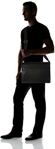 Tommy Hilfiger Tom Logo Messenger With Flap - Bolso al hombro de pvc para hombre negro