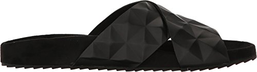 Toe Minkoff Rebecca Black Open Sandals Calf Shiny Casual Slide Tammi Womens Z7xqwPT
