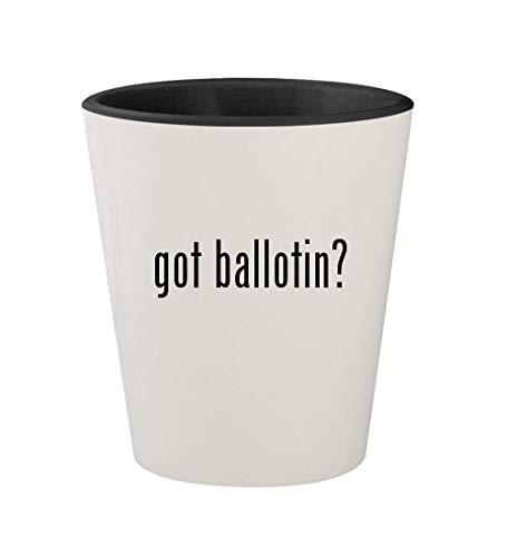 got ballotin? - Ceramic White Outer & Black Inner 1.5oz Shot Glass