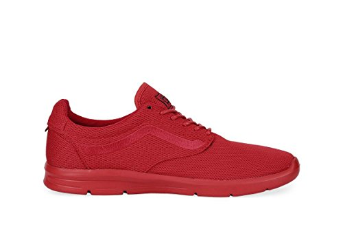 Vans Unisex Iso 1.5 Mesh Mono Running Sneakers-Red-11-Women/9.5-Men