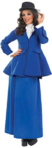 Ladies Long Full Length Victorian Lady Book Day Week Halloween Fancy Dress Costume Outfit UK 8-30 Plus Size (UK 12-14) -