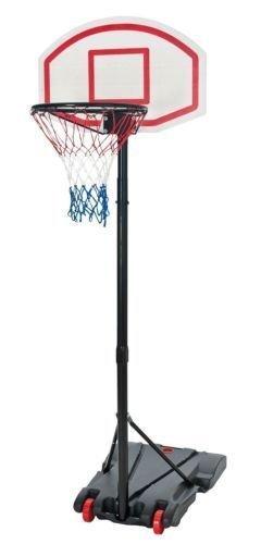 FREE STANDING BASKETBALL NET HOOP BACKBOARD WITH ADJUSTABLE STAND SET ON WHEELS