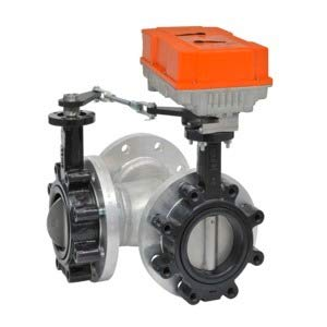w//Non-Spring 600 Cv 24-240V F7100HD+PRBUP-3-T Butterfly Valve On//Off 4 3 Way