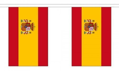 9 Metres 30 (9'''' x 6'''') Flag Spain Spanish State Crest 100% Polyester Material Bunting Ideal Party Decoration For Street House Pubs Clubs Schools by Flag Co