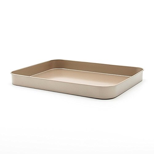 Nonstick Bakeware 9-Inch x 7-Inch Cookie Pan, Glod