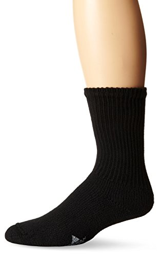 WigWam Men's King Crew Athletic Socks, Sock Size:10-13/Shoe Size: 6-12, Black