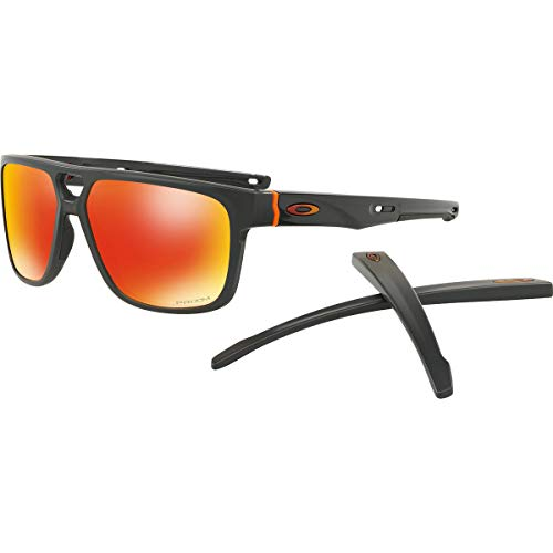 - Oakley Men's Crossrange Patch Asian Fit Sunglasses,OS,Matte Carbon/Prizm Ruby