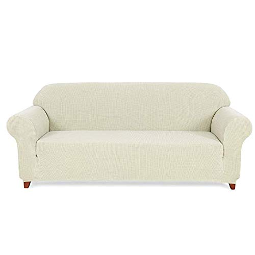 Slipcovers 3 Cushion Couch Sofa Covers Couch Cushion Protector Covers (Sofa, Off-White) ()