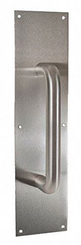DOOR PULL PLATE 3.5X15'' W/ 8'' CTC PULL by HEALTHY HARDWARE