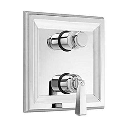 - American Standard T555.740.002 Town Square Two Handle Thermostat Trim Kit with Separate Volume Control, Metal Lever Handles, Polished Chrome