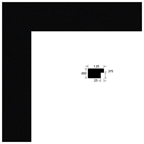 2WOMCF-105-048C-17x18 ArtToFrames 17x18 inch Black Satin Picture Frame