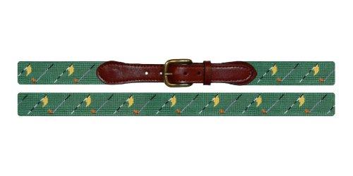 Smathers & Branson Golf Flags Needlepoint Belt - Sage, Size 40 (B-226-40) by Smathers & Branson