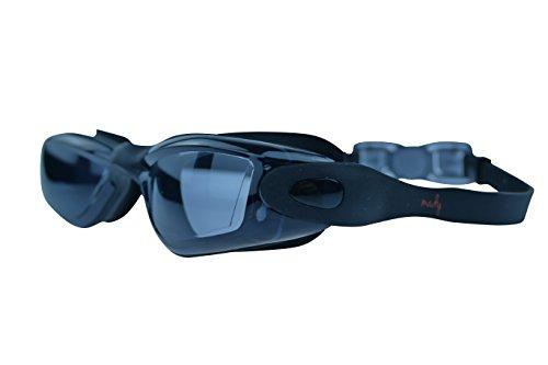 MADY Swimming Goggles Black, Clear, Adjustable, No Leaking, Anti Fog, UV Protection, Triathlon, Swim Goggles with Free Swim Cap + Nylon Bag