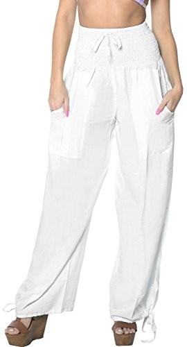 rayon-plain-drawstring-tie-lounge-yoga-pajama-beachwear-women-casual-pant-white-fathers-day-gifts-sp