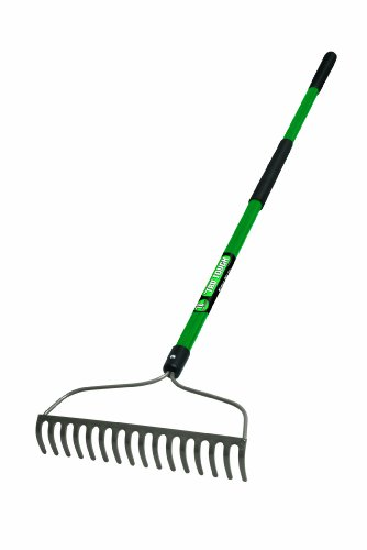 Truper 32404 Tru Tough Welded Bow Rake, 16-Teeth, Fiberglass Handle ()