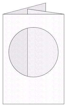 Craftcreations Pack of 5 Double Fold Medium Cards/Envelopes Circle Aperture, Hammer White