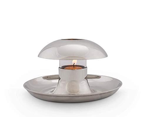 Vagabond House Tribeca Collection Pewter Tea Light Serving Bowl 8