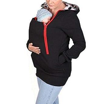 Ayamababy Sudadera con Capucha de Kangaroo para bebé de Maternidad, Chaqueta de suéter de Canguro