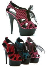 (Penthouse Women's Colleen PH609 High Heels,Red Psycho-Ging Fabric,12 M US)