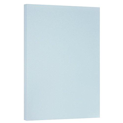 JAM PAPER Vellum Bristol 67lb Cardstock - 11 x 17 Letter Coverstock - Blue - 50 Sheets/Pack