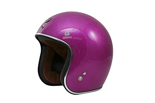 TORC (T50 Route 66) 3/4 Helmet with Super Flake Speciality Paint (Bubble Gum Pink, Medium)