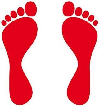 3 pares 12 cm rojo 6 pies Niños Huella Etiqueta Tattoo la Cut Auto ...