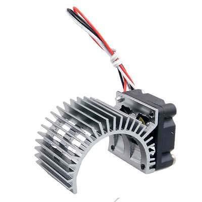 FidgetGear 540 Motor Heat Sink DC 7.2V Brushless Fan 2P Gray Fit RC 3650 Motor from FidgetGear