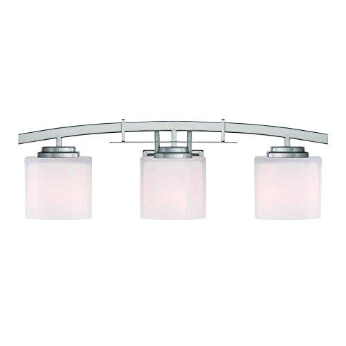 Architecture 3-light Brushed Nickel Vanity Light by Hampton Bay