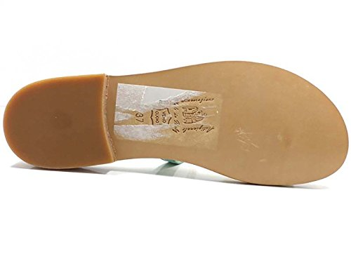 Zapatos Mujer EDDY DANIELE 37 Sandalias Verde Gamuza AW507