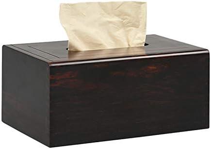 caja de pañuelos de Caoba roja Madera Maciza de Escritorio de Madera de salón hogar servilletas Caja de Bombeo: Amazon.es: Hogar
