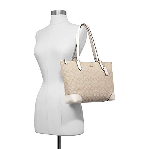 COACH Outline Signature Zip Tote 4